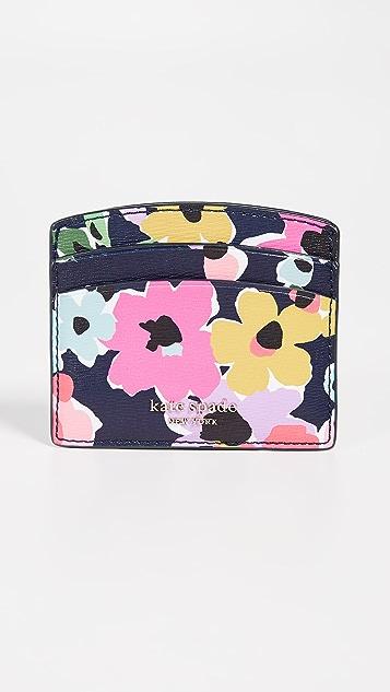 Kate Spade New York Sylvia Wildflower Bouquet Card Holder - Navy Multi