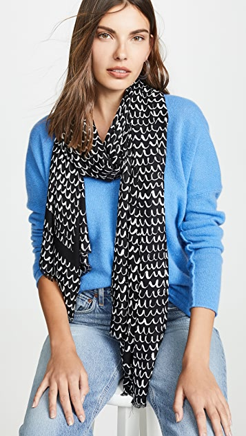 Kate Spade New York Pop Scallop Oblong Scarf