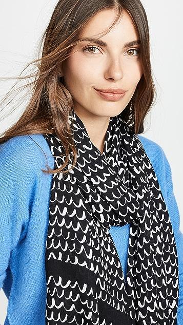 Kate Spade New York Продолговатый шарф с зубчатой отделкой