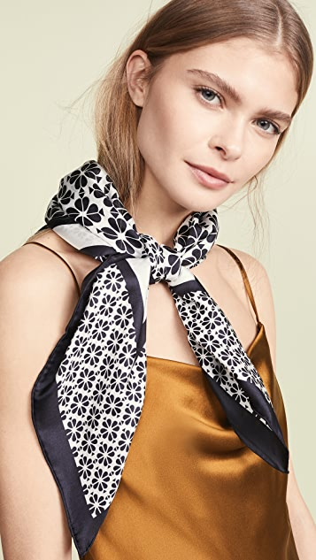Kate Spade New York Spade Flower 真丝方形围巾