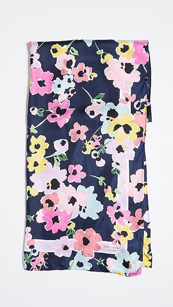 Kate Spade New York Wild Bouquet Silk Oblong Scarf