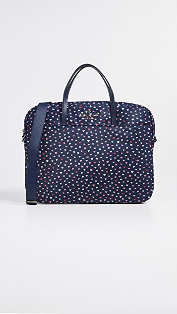 Kate Spade New York Lips Universal Nylon Slim Commuter Bag