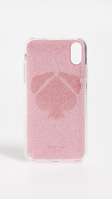 Kate Spade New York Glitter Mod Dog iPhone XS Case