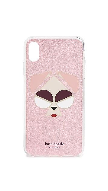Kate Spade New York Glitter Mod Dog iPhone XS Max Case