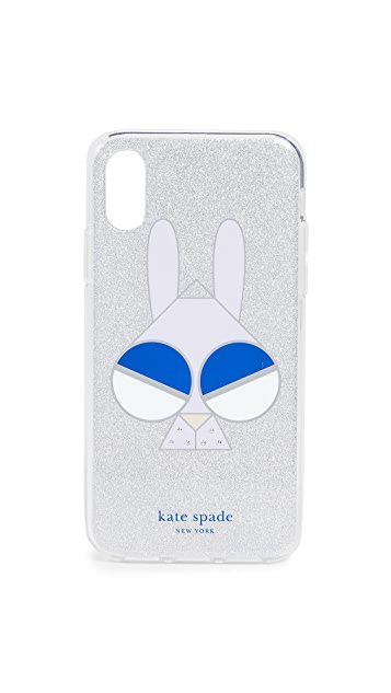 Kate Spade New York Glitter Money Bunny iPhone X / XS Case