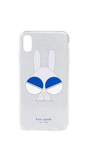 Kate Spade New York Glitter Money Bunny iPhone XS Max Case