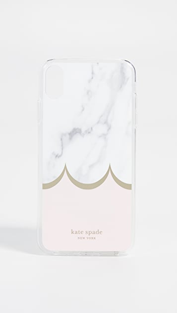 Kate Spade New York Marble Scallop iPhone XS Max Case