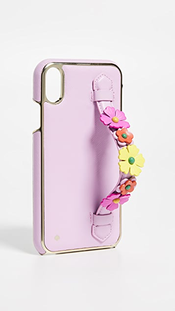 premium selection 91468 295e2 Floral Hand Strap Stand XR iPhone Case