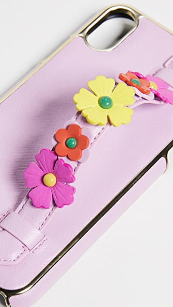 Kate Spade New York Floral Hand Strap Stand XR iPhone Case