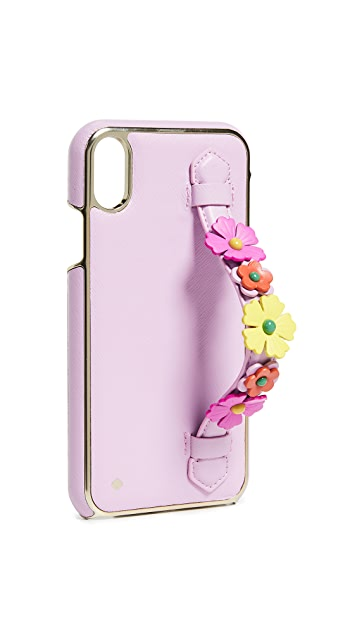 Kate Spade New York Floral Hand Strap Stand XS Max iPhone Case