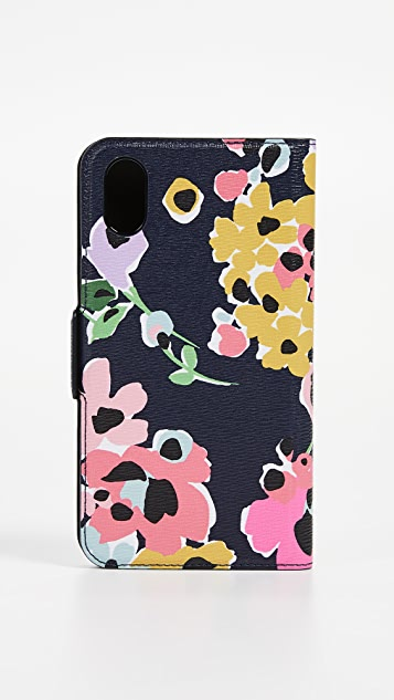Kate Spade New York Wildflower Bouquet Folio iPhone XR Case