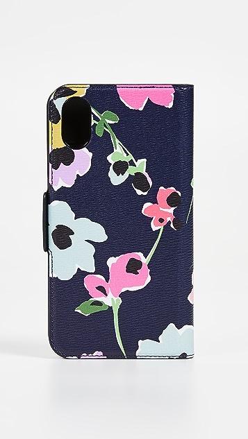 Kate Spade New York Wildflower Bouquet Folio X / XS iPhone Folio Case
