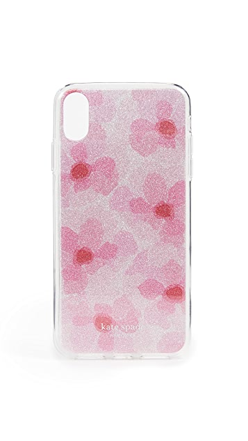 Kate Spade New York Glitter Abstract Peony iPhone XS Max Case