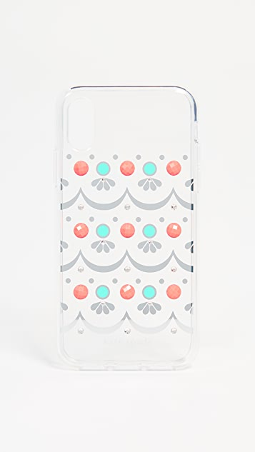 Kate Spade New York Embellished Clear iPhone X / XS Case