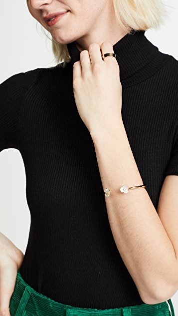 Kate Spade New York Disco Pansy Thin Cuff Bracelet