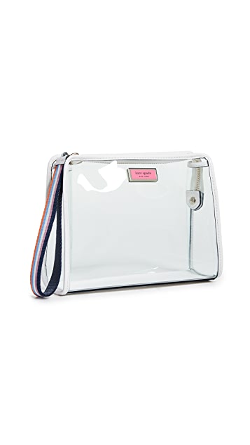 Kate Spade New York Sam See Through Medium Cosmetic Case