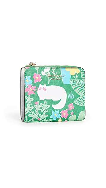 Kate Spade New York Sylvia Garden Posy Small Slim Bifold Wallet