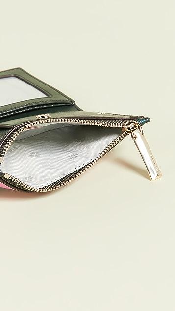 Kate Spade New York Sylvia Stripe Small Slim Bifold Wallet