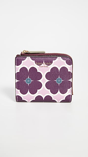 Kate Spade New York Sylvia Graphic Clover Small Bifold Wallet