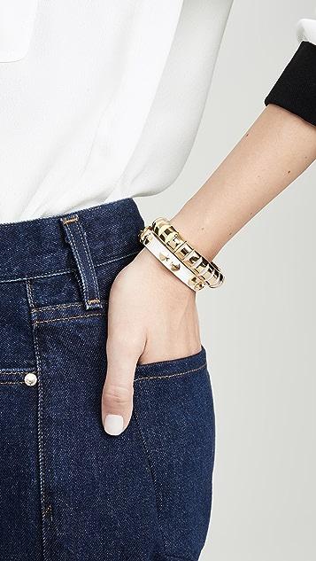 Kate Spade New York Кожаный браслет Heritage с заклепками в виде масти пик
