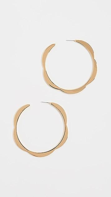 Kate Spade New York Плоские зубчатые крупные серьги-кольца