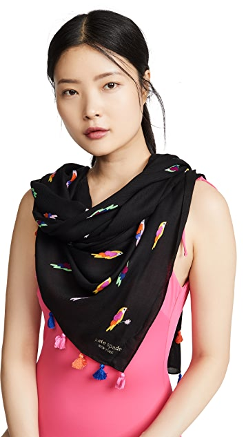 Kate Spade New York Flock Party Oblong Scarf