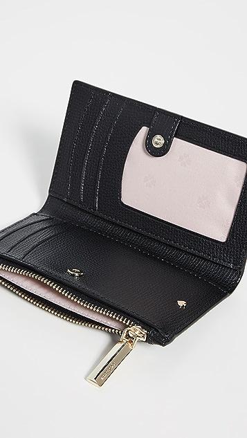 Kate Spade New York Antoinette 小号窄款珠饰双折钱包