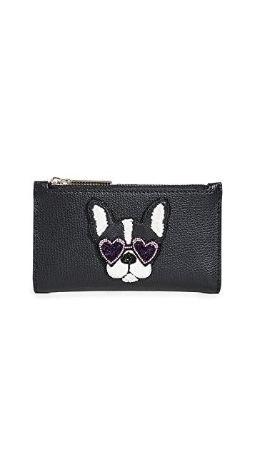 Kate Spade New York Beaded Antoinette Small Slim Bifold Wallet