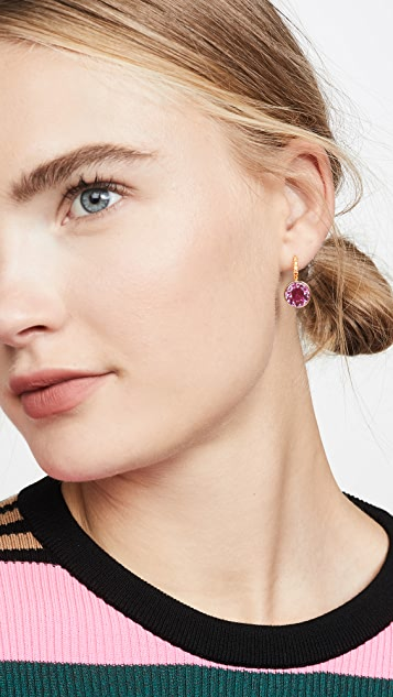 Kate Spade New York Pave Round Drop Earrings