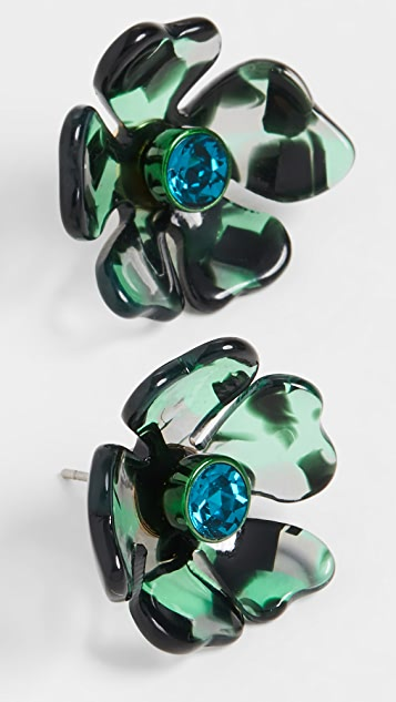 Kate Spade New York Маленькие серьги-гвоздики в виде цветов