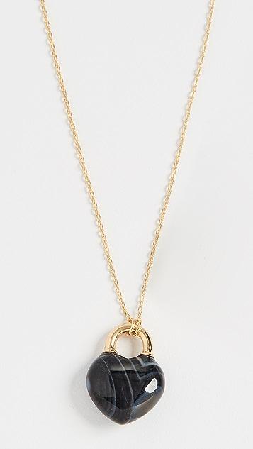 Kate Spade New York Stone Lock Mini Pendant Necklace