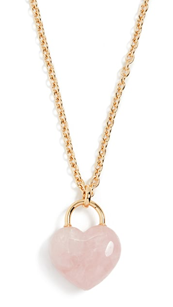 Kate Spade New York Stone Lock Pendant Necklace