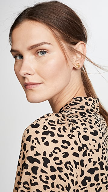 Kate Spade New York Pave Asymmetrical Lock Studs