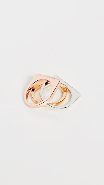 Kate Spade New York Pave Ring Set
