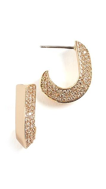 Kate Spade New York Pave Small Huggie Earrings