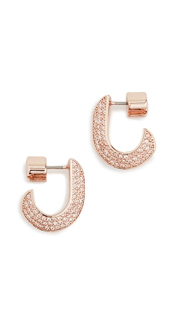 Kate Spade New York Pave Small Huggie Earrings