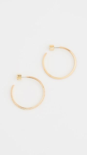 Kate Spade New York Pave Hoops
