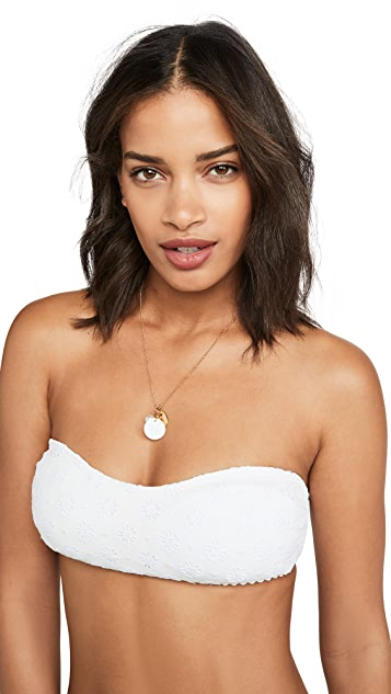 Kate Spade New York 圆孔抹胸式比基尼上衣
