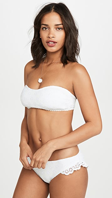 Kate Spade New York Eyelet Ruffle Bikini Bottoms