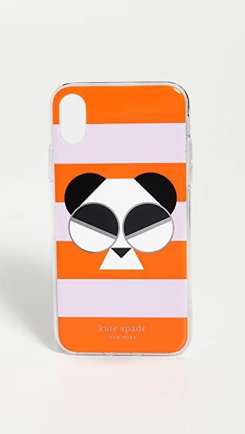 Kate Spade New York Gentle Panda Stripe iPhone Case