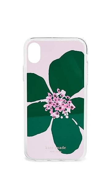 Kate Spade New York 镶嵌珠宝大号花朵 iPhone 手机壳
