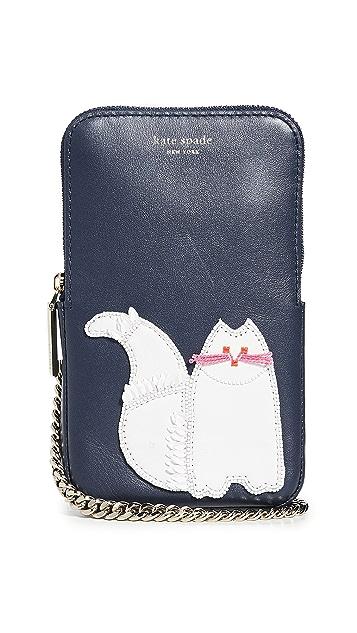 Kate Spade New York Beaded Cat Phone Crossbody