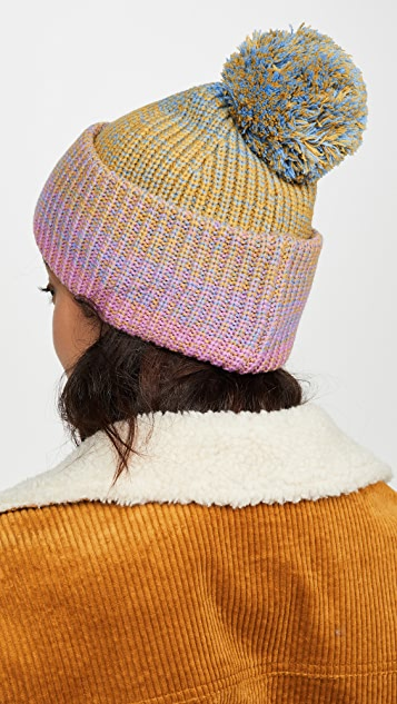 Kate Spade New York 渐变色绒球毛线帽