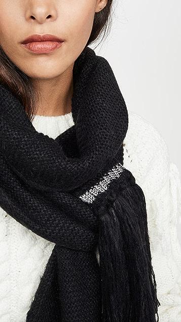 Kate Spade New York Garter 缝线围巾