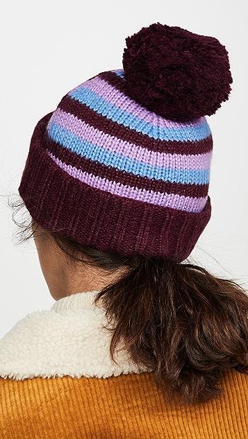 Kate Spade New York Heritage Stripe Beanie Hat