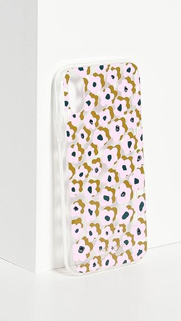 Kate Spade New York 镶珠宝 Flair Flora iPhone 手机壳