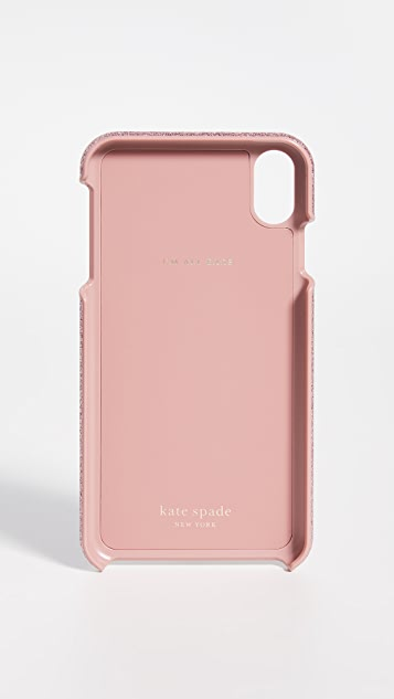 Kate Spade New York Glitter Inlay iPhone Case