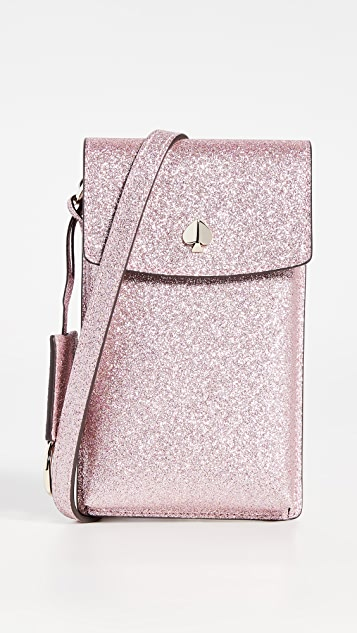 Kate Spade New York Glitter North South Flap Crossbody Bag