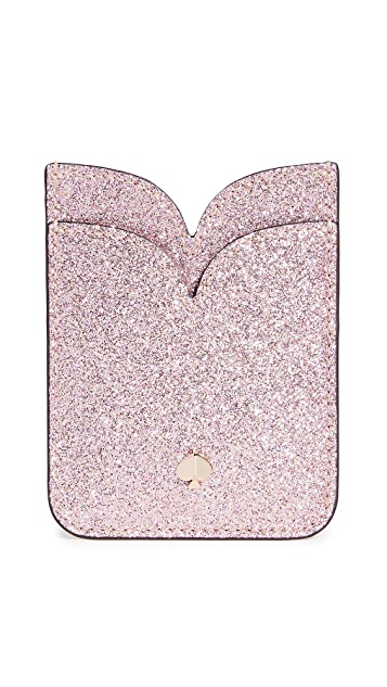 Kate Spade New York Glitter Double Sticker Pocket
