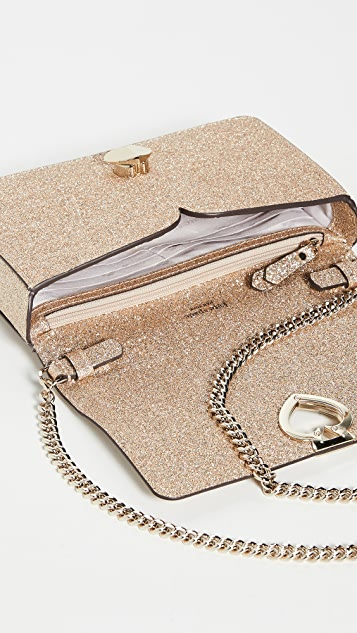 Kate Spade New York Nicola Shimmer Twistlock Chain Wallet